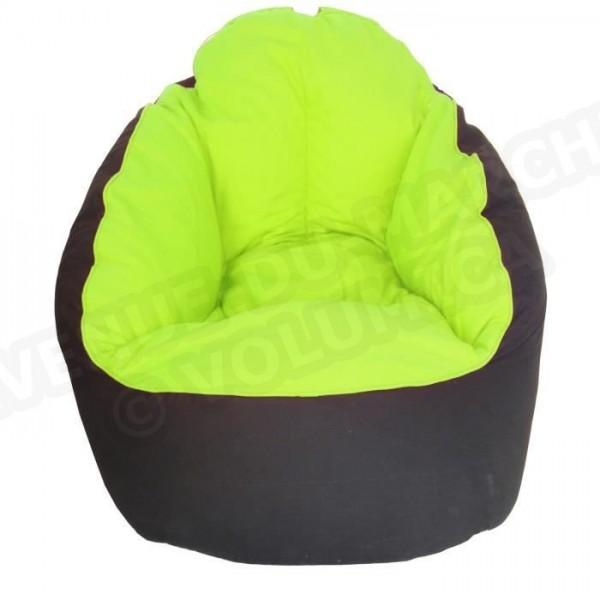 fauteuil pouf miljet noir vert anis 65 x75 cm aucune. Black Bedroom Furniture Sets. Home Design Ideas