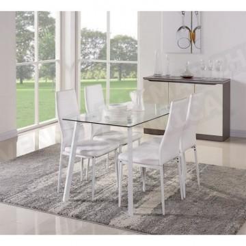 Table A Manger 120 Cm.Solis Ensemble Repas Laque Blanc1 Table A Manger 120cm 4 Chaises