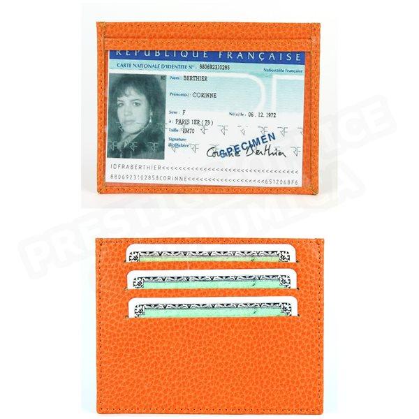 63074948bd Porte carte d'identité et cb cuir Laurige