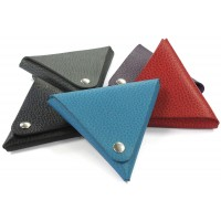 Porte monnaie triangulaire cuir