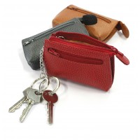 Porte-clefs zip cuir